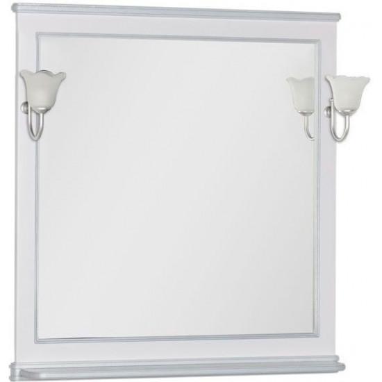 Зеркало Aquanet Валенса 90 белый краколет/серебро в интернет-магазине ROSESTAR фото