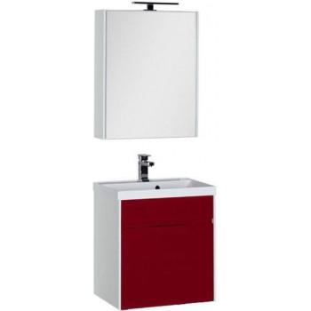 Комплект мебели для ванной Aquanet Латина 60 бордо (1 ящик)