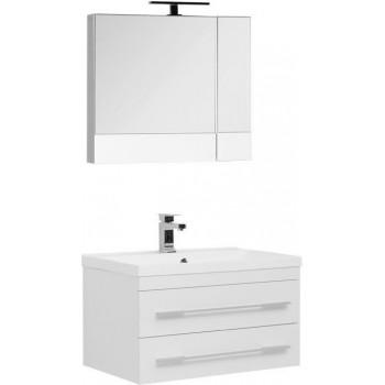 Комплект мебели для ванной Aquanet Нота NEW 75 белый (камерино)