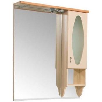 Зеркало-шкаф с подсветкой Aquanet Греко 100 бежевый бук