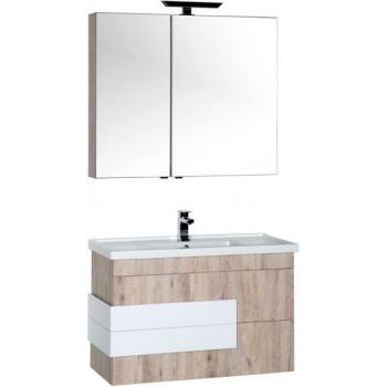 Комплект мебели для ванной Aquanet Мадейра 100 дуб кантри