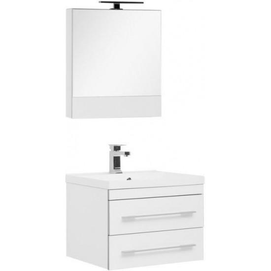 Комплект мебели для ванной Aquanet Верона NEW 58 белый (подвесной 2 ящика) в интернет-магазине ROSESTAR фото