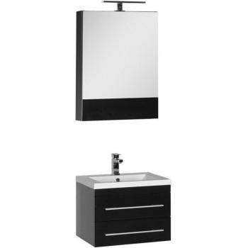 Комплект мебели для ванной Aquanet Нота 58 черный (камерино)