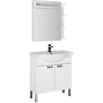 Комплект мебели для ванной Aquanet Адель 80 белый