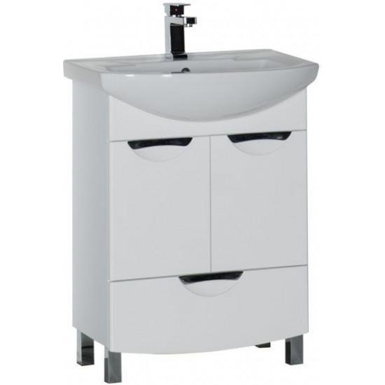 Тумба с раковиной Aquanet Парма 65 белый (1 ящик 2 дверцы) в интернет-магазине ROSESTAR фото