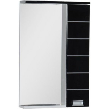 Зеркало-шкаф с подсветкой Aquanet Доминика 55 LED черный