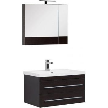 Комплект мебели для ванной Aquanet Нота NEW 75 венге (камерино)