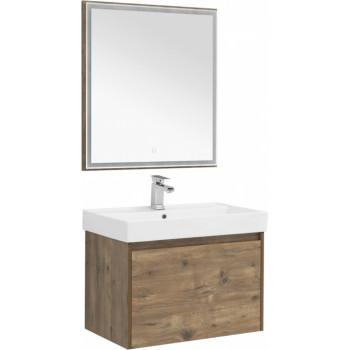 Комплект мебели для ванной Aquanet Nova Lite 75 дуб рустикальный (1 ящик)