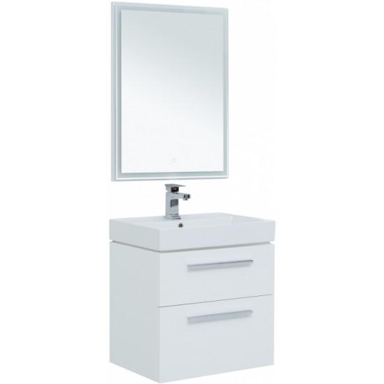 Комплект мебели для ванной Aquanet Nova 60 белый (2 ящика) в интернет-магазине ROSESTAR фото