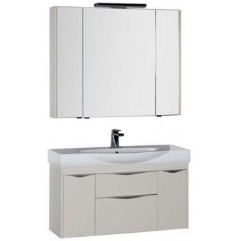 Комплект мебели для ванной Aquanet Франка 105 слоновая кость