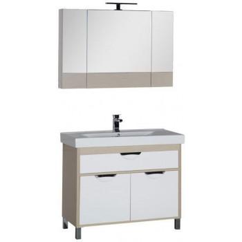 Комплект мебели для ванной Aquanet Гретта 100 светлый дуб (камерино)