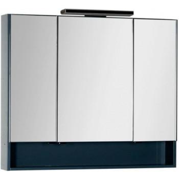 Зеркало-шкаф Aquanet Виго 100 сине-серый
