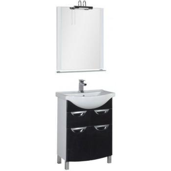 Комплект мебели для ванной Aquanet Асти 65 черный
