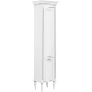 Шкаф-пенал для ванной Aquanet Селена 40 L белый/серебро