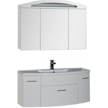 Комплект мебели для ванной Aquanet Тренто 120 белый