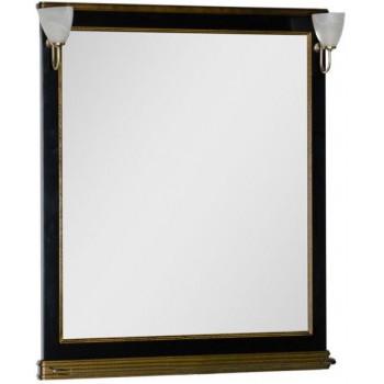 Зеркало Aquanet Валенса 100 черный краколет/золото