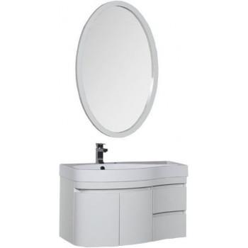 Комплект мебели для ванной Aquanet Сопрано 95 L белый (2 дверцы 2 ящика)