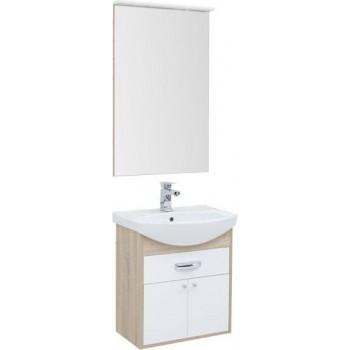 Комплект мебели для ванной Aquanet Грейс 60 дуб сонома/белый (1 ящик, 2 дверцы)