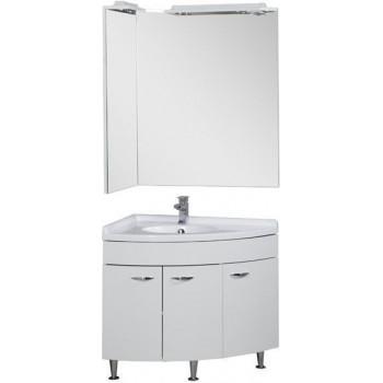 Комплект мебели для ванной Aquanet Корнер 89 L белый (закрытый)