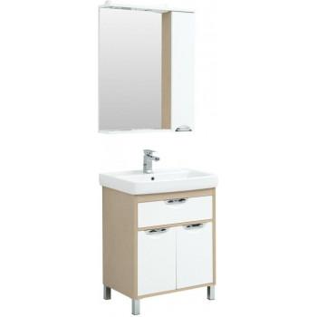 Комплект мебели для ванной Aquanet Гретта 70 New светлый дуб (1 ящик, 2 дверцы)