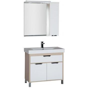 Комплект мебели для ванной Aquanet Гретта 90 светлый дуб