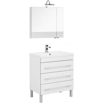 Комплект мебели для ванной Aquanet Верона NEW 75 белый (напольный 3 ящика)