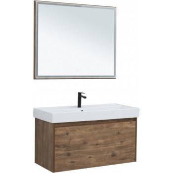 Комплект мебели для ванной Aquanet Nova Lite 100 дуб рустикальный (1 ящик)