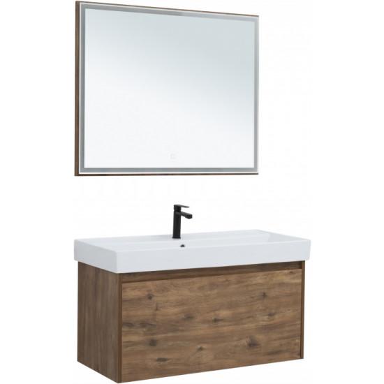 Комплект мебели для ванной Aquanet Nova Lite 100 дуб рустикальный (1 ящик) в интернет-магазине ROSESTAR фото