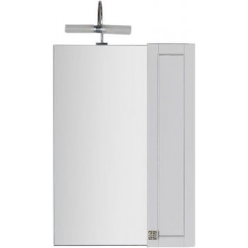Зеркало-шкаф Aquanet Честер 60 белый/серебро