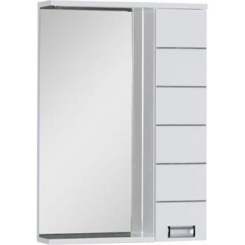 Зеркало-шкаф с подсветкой Aquanet Доминика 60 LED белый