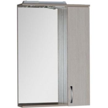 Зеркало-шкаф с подсветкой Aquanet Донна 60 белый дуб