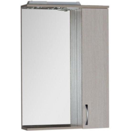 Зеркало-шкаф с подсветкой Aquanet Донна 60 белый дуб в интернет-магазине ROSESTAR фото