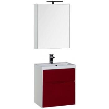 Комплект мебели для ванной Aquanet Латина 60 бордо (2 ящика)