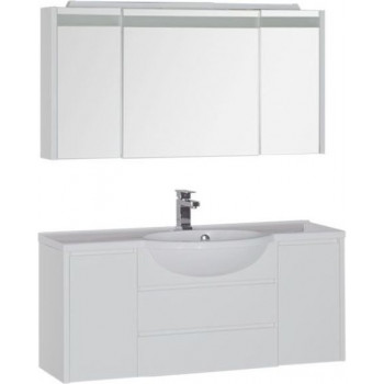 Комплект мебели для ванной Aquanet Лайн 120 белый