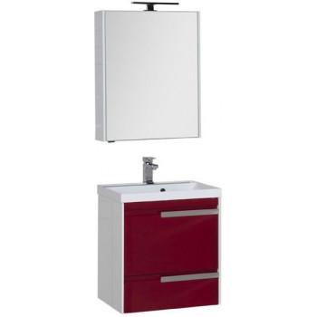 Комплект мебели для ванной Aquanet Тиволи 60 бордо