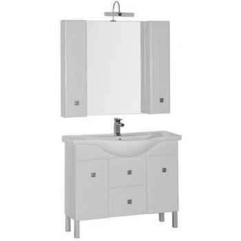 Комплект мебели для ванной Aquanet Стайл 105 белый (2 дверцы 2 ящика)