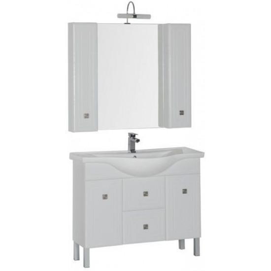 Комплект мебели для ванной Aquanet Стайл 105 белый (2 дверцы 2 ящика) в интернет-магазине ROSESTAR фото