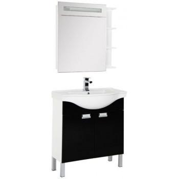 Комплект мебели для ванной Aquanet Адель 80 черный