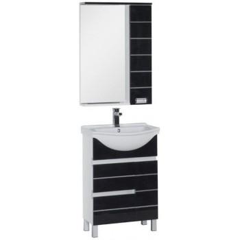 Комплект мебели для ванной Aquanet Доминика 60 черный