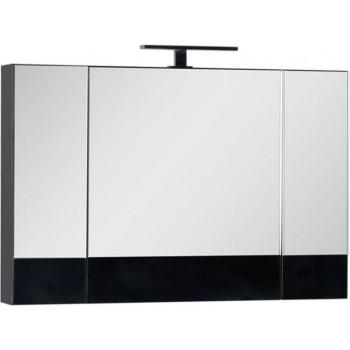 Зеркало-шкаф Aquanet Нота 100 черный
