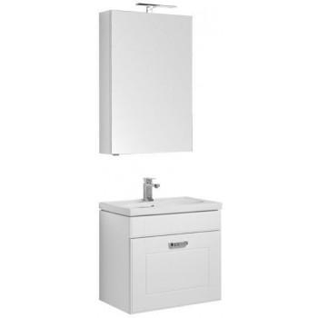 Комплект мебели для ванной Aquanet Рондо 60 белый (1 ящик, зеркало камерино)