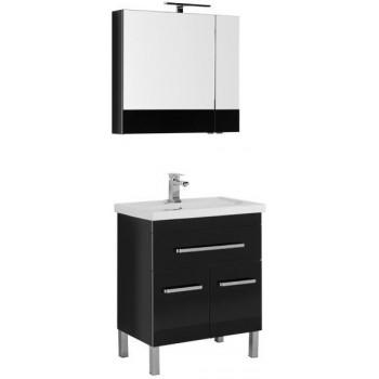 Комплект мебели для ванной Aquanet Сиена 70 черный (напольный 1 ящик 2 дверцы)