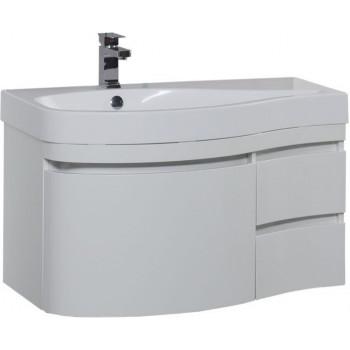 Тумба с раковиной Aquanet Сопрано 95 L белый (3 ящика)