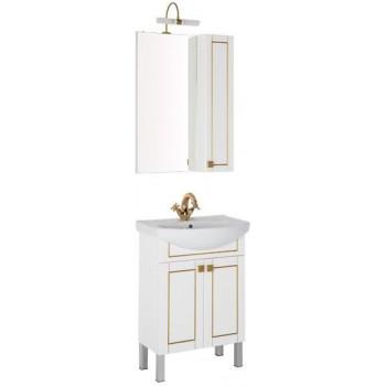 Комплект мебели для ванной Aquanet Честер 60 белый/золото