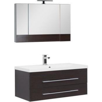 Комплект мебели для ванной Aquanet Нота NEW 100 венге (камерино)