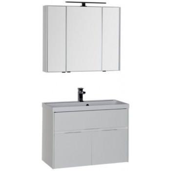 Комплект мебели для ванной Aquanet Латина 90 белый