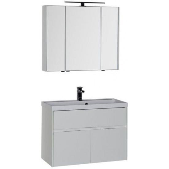 Комплект мебели для ванной Aquanet Латина 90 белый в интернет-магазине ROSESTAR фото