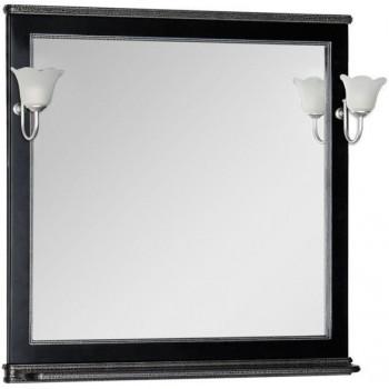 Зеркало Aquanet Валенса 100 черный краколет/серебро