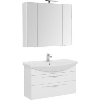 Комплект мебели для ванной Aquanet Ирвин 105 белый