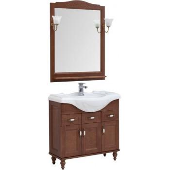 Комплект мебели для ванной Aquanet Амелия S 85 орех